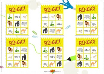 Bingo Animals All Sets