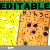 Auto Generated and Editable Bingo for Math Skills