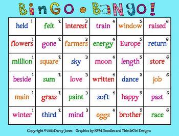 Bingo-Bango! Sight Word Fluency 6