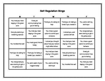 Bingo Behavior Charts