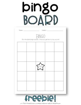 Bingo Board {FREEBIE}