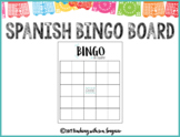 Bingo Board - In Spanish