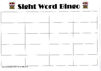 Bingo Board Master Copy