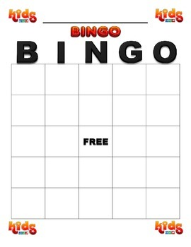 Bingo board template by esl kidz teachers pay teachers bingo board template maxwellsz