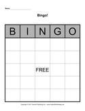 Bingo Board Template 5x5