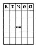 Bingo Board Template pdf