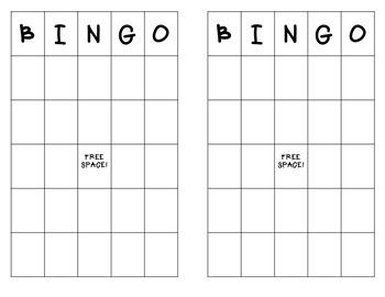 Bingo Boards-- Blank