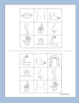 Body Bingo for EFL ESL EAL MFL