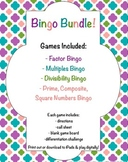 Bingo Bundle! Factors, Multiples, Divisibility, Prime & Co