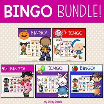 Bingo Bundle (Halloween, Christmas, Valentine's Day, Easter, & Summer)