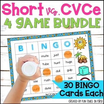 Bingo Bundle Pack:  Short (CVC) and Long (CVCE) Vowels
