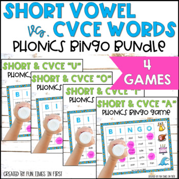 Bingo Bundle Pack:  Short (CVC) and Long (CVCE) Vowels