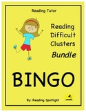 Reading Game: Reading Difficult Vowel & Consonant Clusters Bingo Bundle (RT)