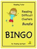 Difficult Vowel Teams & Consonant Clusters Bingo Bundle (RT)