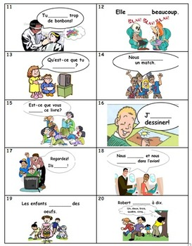 Bingo Bundle for ER Verbs