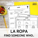 Clothing La Ropa Spanish Speaking Activity