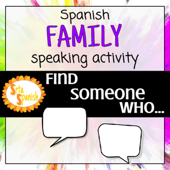 Find Someone Who.. FREEBIE! Family & Adjectives