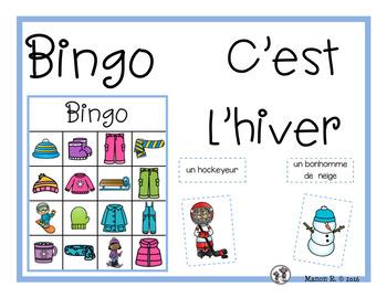 Bingo C'est l'hiver (Winter Time Bingo)