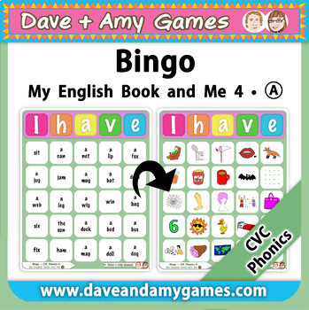 CVC Phonics Bingo: My English Book and Me 4