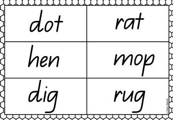 Bingo - CVC words/short vowels #2