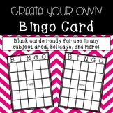 Create a Bingo Card