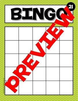 Bingo Cards Editable (and NonEditable) Templates and Calling Cards