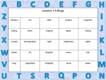 Bingo Cards to supplement Big Words for Big Kids