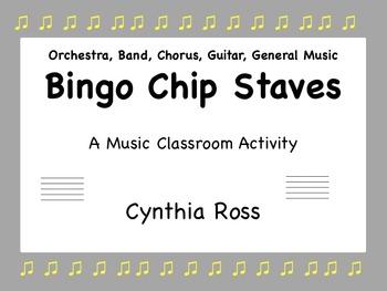 Bingo Chip Staves: A Music Classroom Activity
