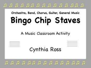 Bingo Chip Staves: A Music Classroom Activity