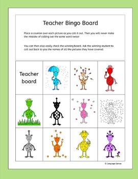 Colors Bingo for EFL ESL EAL MFL