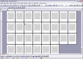 Bingo Computer Video Game Number Caller for Matho and Bingo