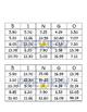 Bingo Conversion Fractions to Decimals