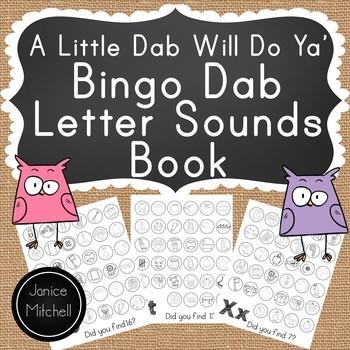 Bingo Dab Alphabet Letter Sound Book Kindergearen to Grade 1