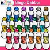 Bingo Dabber Clip Art | Rainbow Glitter Dauber Graphics for Board Game Use