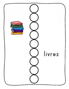 Bingo Dabber FRENCH worksheets - Back to School / La rentrée