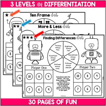 Bingo Dabber Mathematics ~ Differentiated Work Stations Using Bingo Dabbers