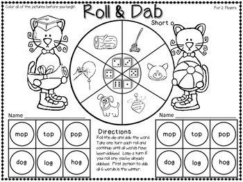 Bingo Dabber Phonics Games  {with Short Vowels}