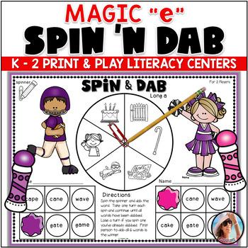"Bingo Dabber Phonics Games  {with magic ""e""}"
