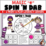Bingo Dabber Phonics MAGIC E