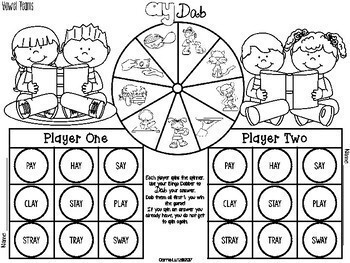 Bingo Dabber Phonics ~ Vowel Teams and Diphthongs