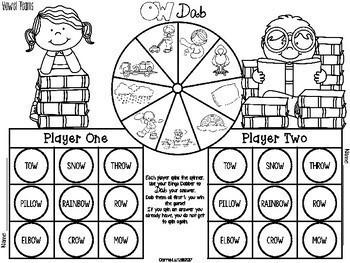 Bingo Dabber Phonics ~ Vowel Teams and Diphthongs