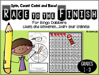 Counting Coins Using a 120 Chart ~ Race to the Finish!
