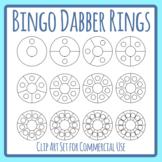 Bingo Dabber Rings or Punch Ring Reward Templates Clip Art Set