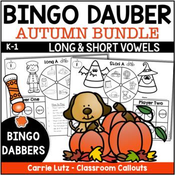 Bingo Dabber Thanksgiving Phonics ~  Short Vowels Magic E Bundle