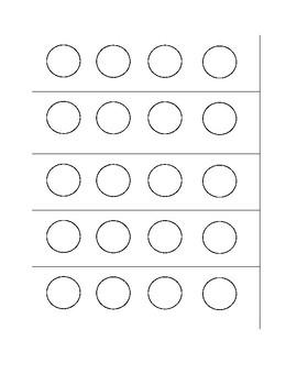 Bingo Dauber 4/4 Measure Template--FREE