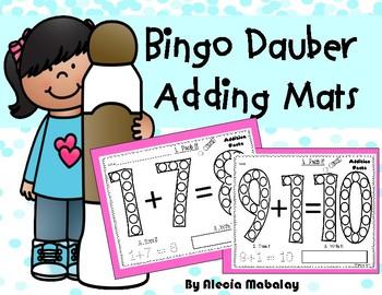 Bingo Dauber Adding Mats: Daub it, Trace it, Write it