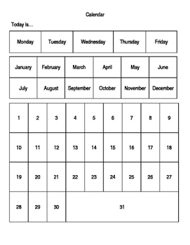 Bingo Dauber Calendar Activity
