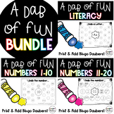 A Dab of Fun BUNDLE {Bingo Dauber Math & Literacy Printables}