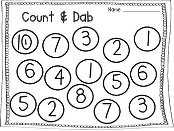 Bingo Dauber Math and Literacy Fun