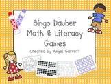 Bingo Dauber Math and Literacy Fun